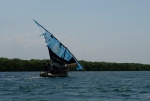 Dhow al canal d'Ibo.